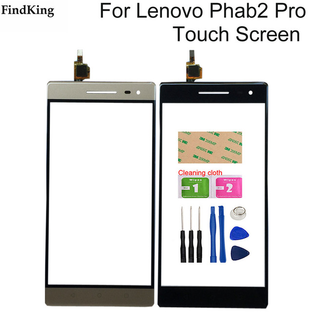 Touch Screen For Lenovo Phab 2 Phab2 Pro Touch Screen Front Glass Digitizer Sensor Repair Phone Tools Adhesive