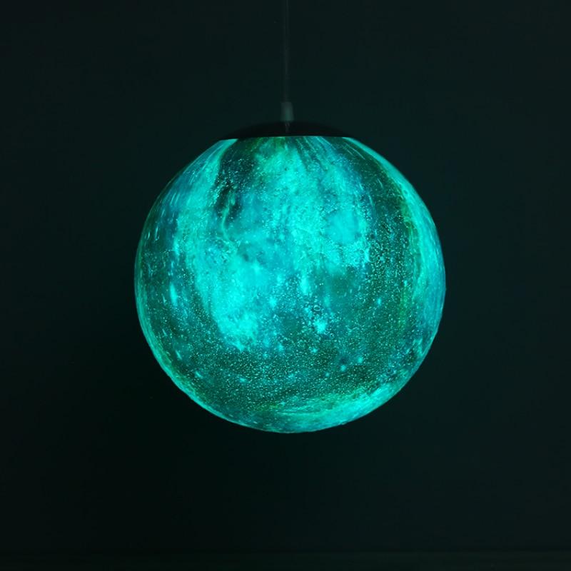 16 Colors 3D Printing Chandelier Ball Moon LED Star Modern LED Lamp Bedroom Dining Room led lustre Hanging chandelier lighting - 2