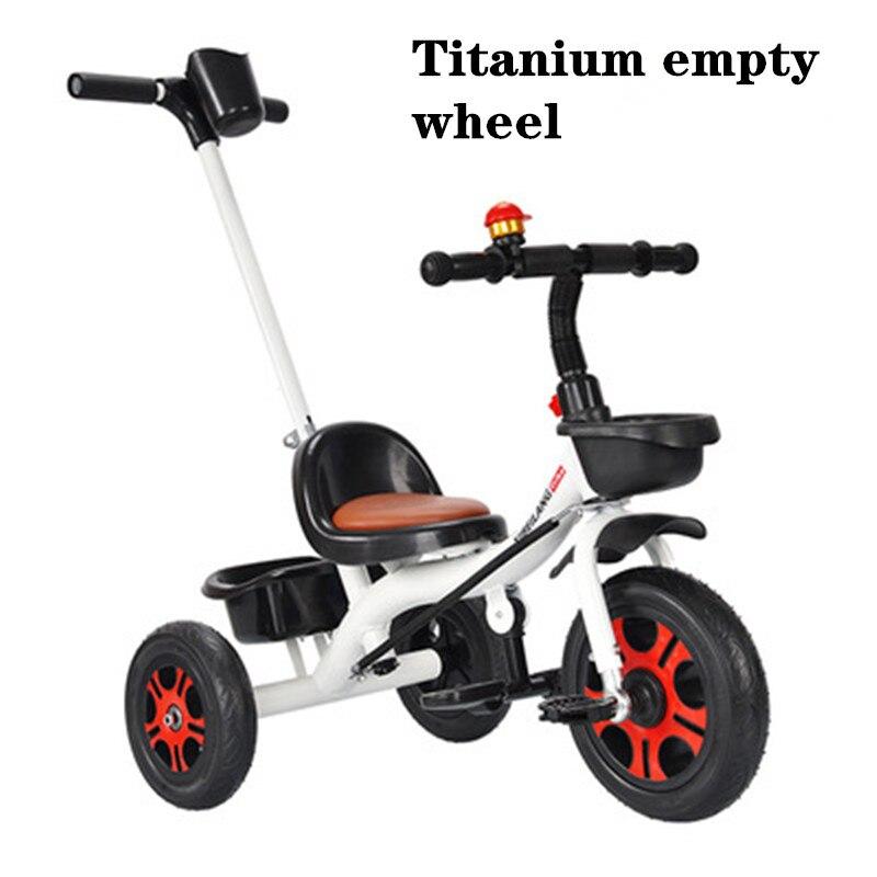 4 couleurs Anti-renversement élargir les pneus augmenter siège sécurité mère aide bébé ami enfants Tricycle chariot vélo poussette