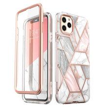 I BLASON para iPhone 11 Pro Max, funda protectora de pantalla de 6,5 pulgadas (2019), funda protectora de mármol con brillo de cuerpo completo Cosmo