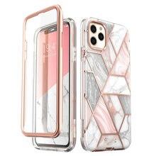 I BLASON para iphone 11 pro max case 6.5 polegadas (2019) cosmo capa protetora de mármore com glitter, completo, com protetor de tela embutido