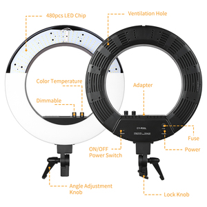 Image 3 - 18 inch LED Photo Ring Light With Light Stand 5500K Video Light Lamp Digital Photographic Lighting
