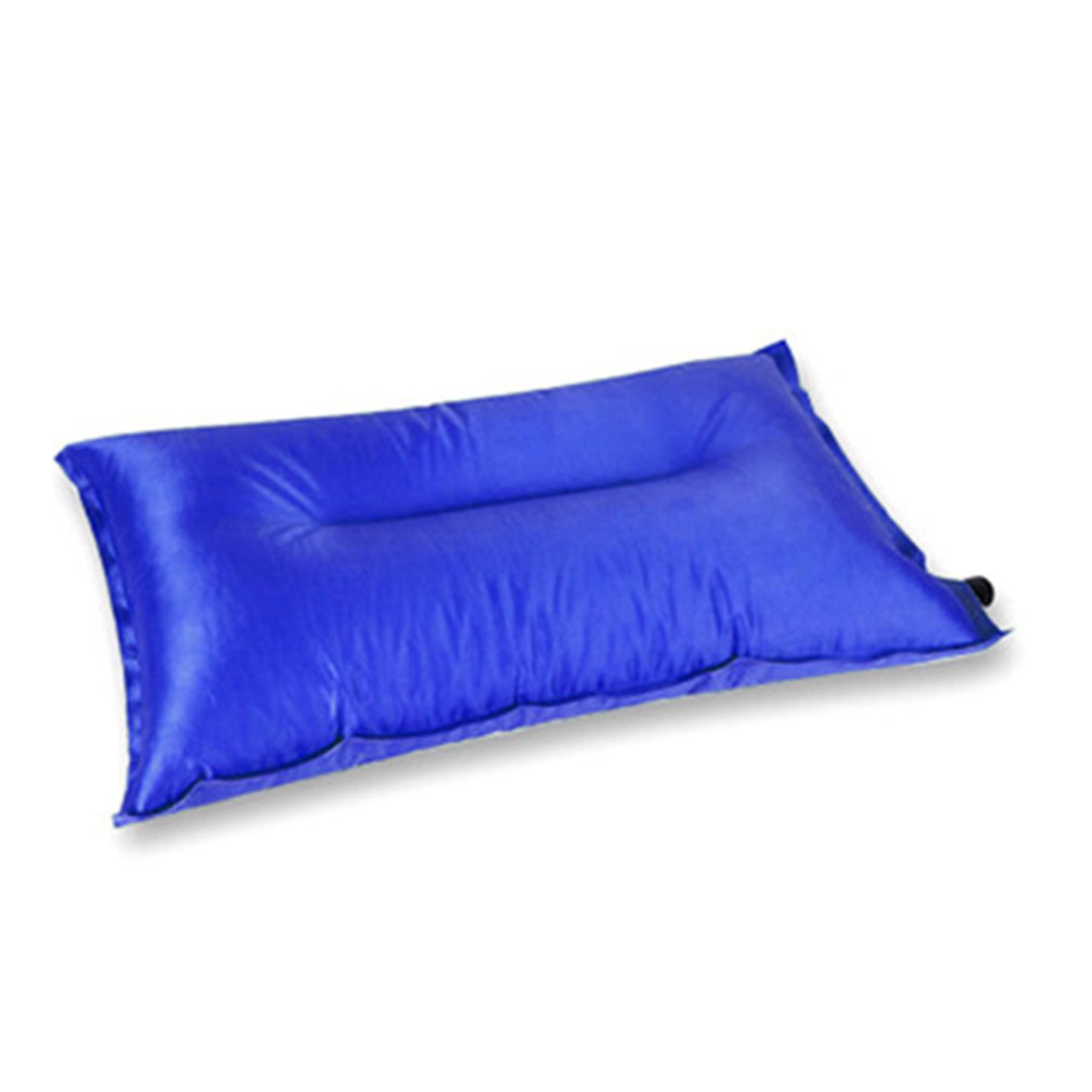 Portable Fold Outdoor Air Inflatable Pillow Camping Hiking Reak Rest Sleep Travel