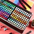 Спиртовые маркеры TouchFIVE, 168 цветов, двухсторонние маркеры для художественных скетчей, масляные спиртовые чернила, маркеры для анимации манг...