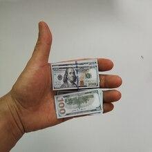 Креативный подарок, миниатюрные игрушки, банкноты, 100 долларов США, фотоукрашение, бумажные деньги, детская игрушка, маленький размер, евро