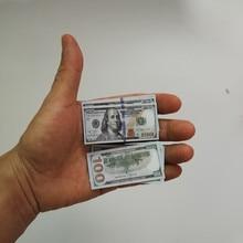 Criativo presente em miniatura contas de brinquedo 100 dólares dos eua foto decoração papel dinheiro brinquedo das crianças tamanho pequeno euro