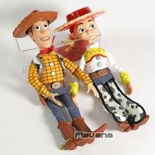 Falando sheriff woody/cowgirl jessie, figura de ação, boneca, brinquedos, crianças, presente de aniversário
