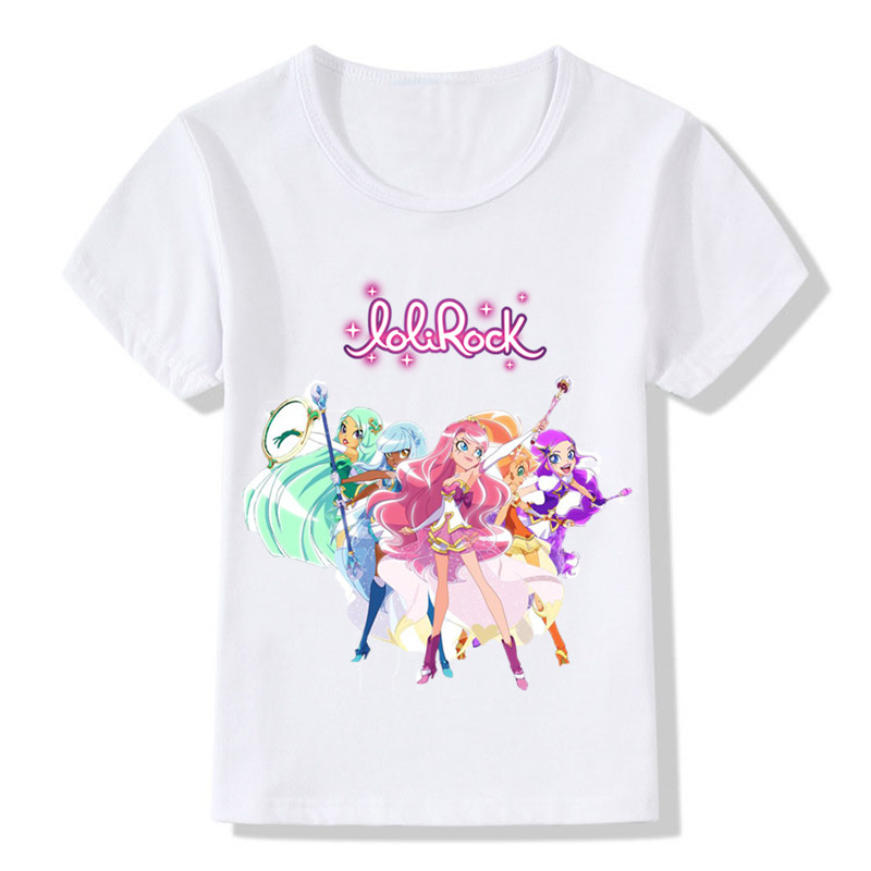 Children LoliRock Magical Girl Funny T-shirt Boys Girls Anime Great Tops T shirt Kids Clothes 1