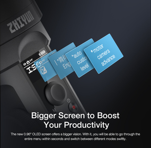 Image 4 - ZHIYUN resmi vinç 2S/COMBO/PRO el sabitleyici kamera Gimbal DSLR Sony Canon BMPCC Fujifilm kameralar dikey ateş