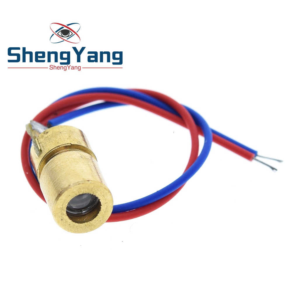Shengyang 1Pcs 5V 650nm 5Mw Verstelbare Laser Dot Diode Module Red Sight Koperen Hoofd Mini Laser Pointer