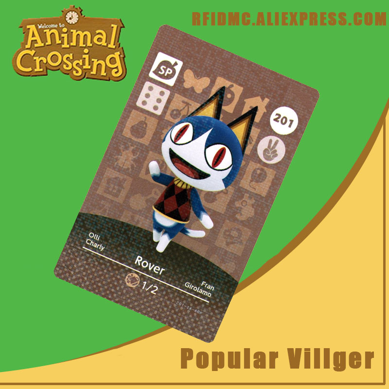 201 Rover Animal Crossing Card Amiibo For New Horizons