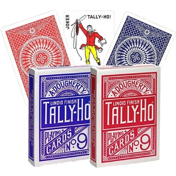 Tally-Ho No.9 Deck Fan/Round Back Playing Cards USPCC Collectible Poker Magic Card Games Magic Tricks Props for Magician tally ho playing cards magic deck magic tricks cardistry deck