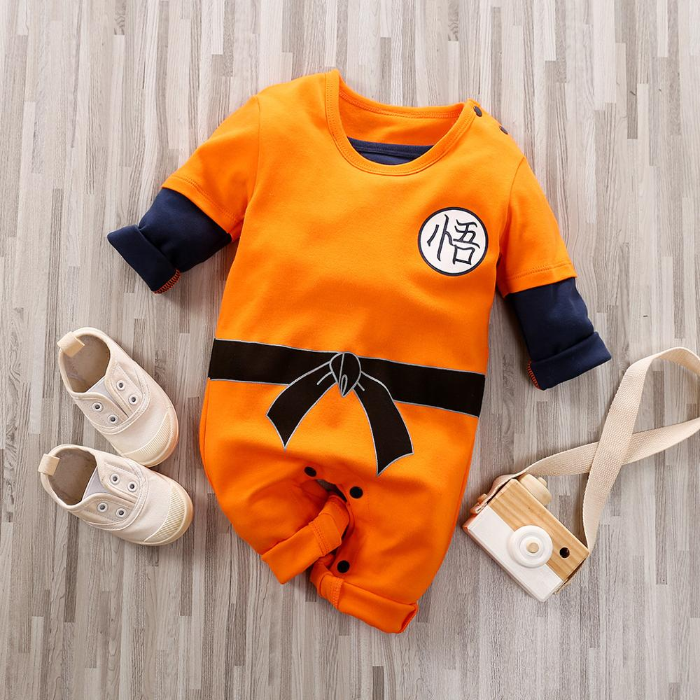 Baby Anime Costume New Born Boy Romper Babygrow Newborn Baby Clothes Infant Toddler Carters Onesie Long Sleeve Kids Jumpsuit