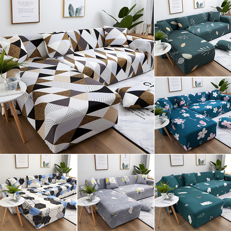 Elastic Stretch Sofa Cover 1/2/3/4 Seater Sofa Slipcover Couch Covers for Universal Sofa Livingroom Sectional L Shaped Slipcover 1