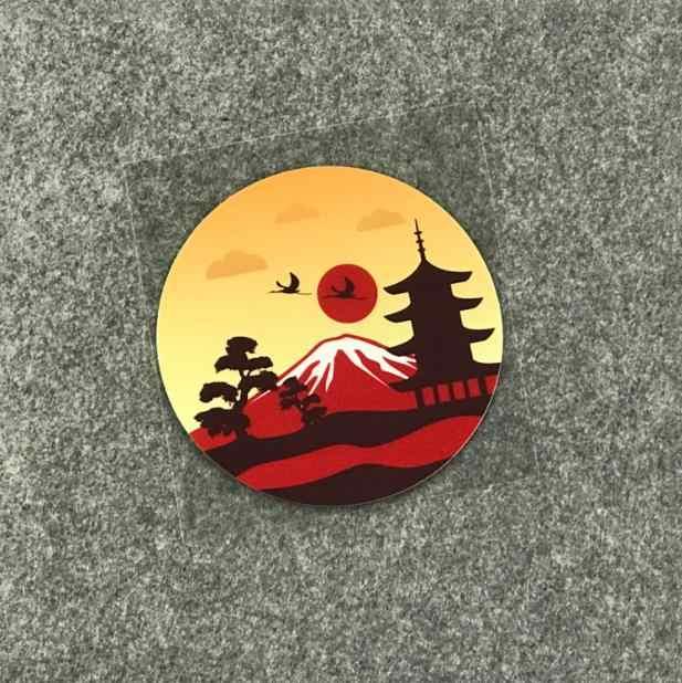 Reflexivo Sol Nascente Monte fuji Japão adesivos deriva JDM Japão retro adesivos de carro de vinil decalques do carro motocicleta