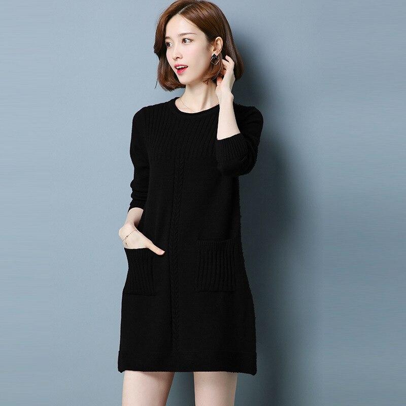 Women Sweters 2020 Pullover Women Yellow Long Sweater Korean Style Top Femme 2020 Knitwear Sueter Mujer KJ152