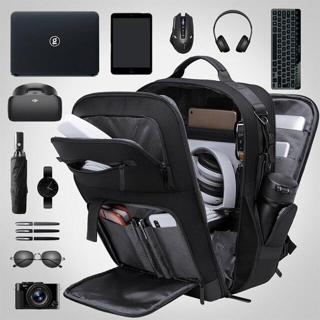 BANGE Men Business Backpack High capacity Waterproof Travel Backpack 15.6'Laptop Backpack School Bag Office Men Backpack 2