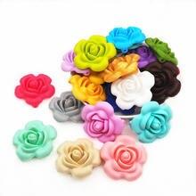 Chengkai 50 шт силиконовые бусины в форме розы «сделай сам»