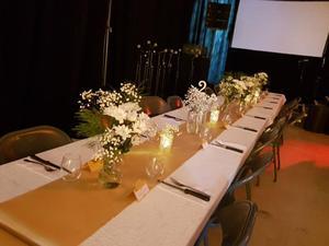 Image 5 - 10 pièces/ensemble 30x275cm Jacquard Style Satin chemin de Table pour hôtel Table décoration mariage fête réception Table coureurs nappe