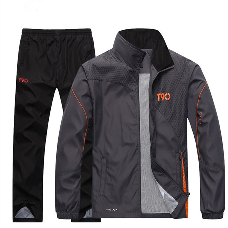 Sportswear Men's Sets Streetwear Fashion Casual Thin Spring Autumn Outerwear Couple Coat Leisure Running Men's Wear 5XL MOOWNUC