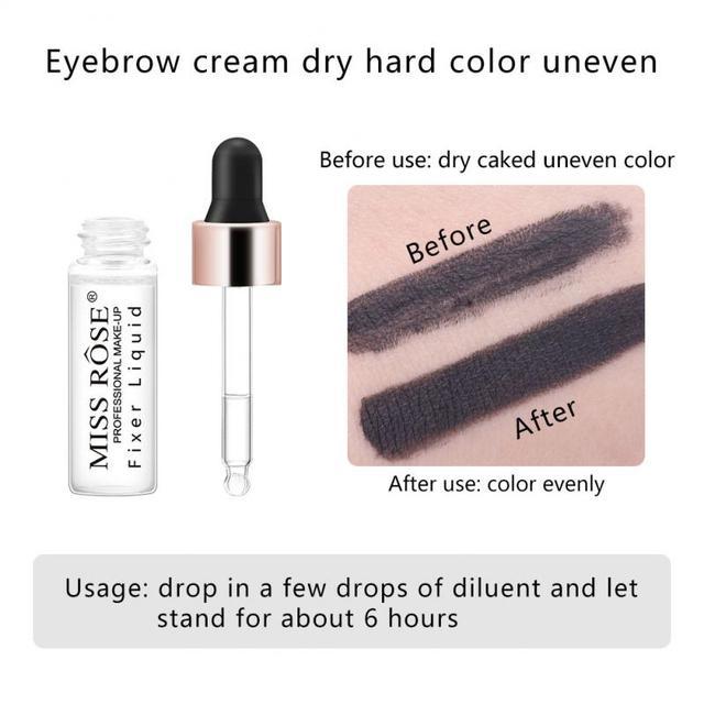 MISS ROSE Primer Makeup Dilution Blending Liquid Eyeliner Powder Blush Nail Polish eye Shadow Liquid Restore face primer  TSLM1 2