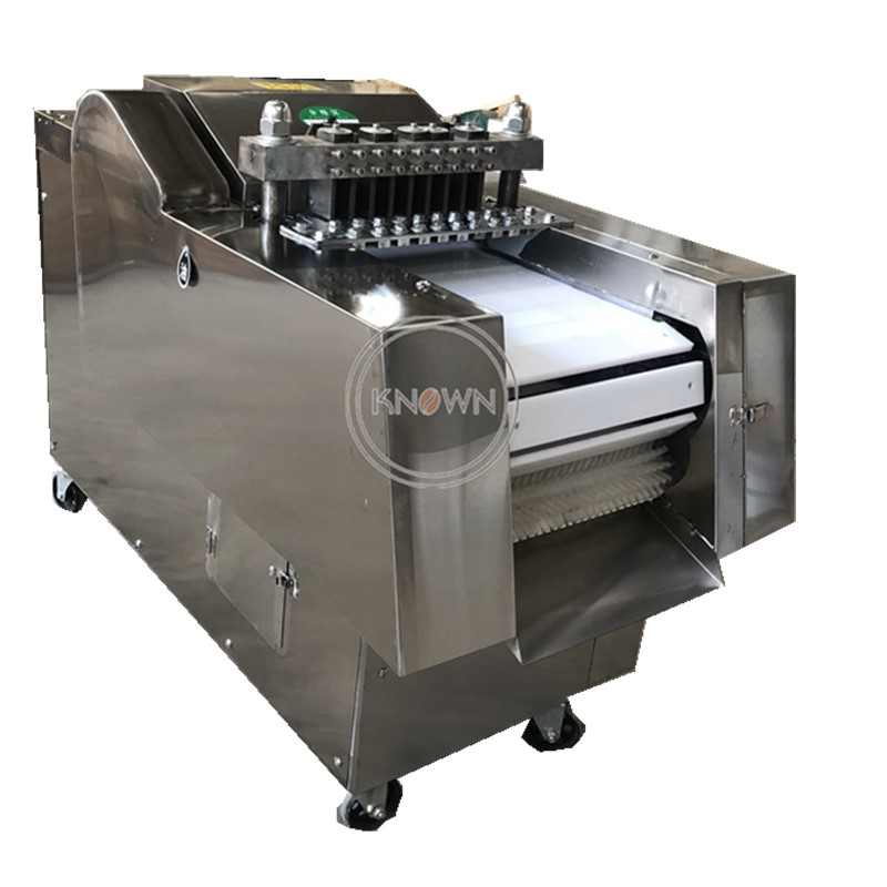 Stainless Steel 300-500kg/h Blocks, Sections, Diced Poultry, Meat, Ribs Cutter Making Machine
