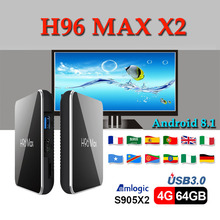 Best stable Netherlands tv set top box H96 MAX X2 android 8.1 boxing amlogic S905X2 Quad Core 4 GB 32 h96 max