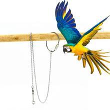 1 шт. Pet Parrot Leg Ring цепочка на лодыжку Птичье кольцо открытый Летающий тренировочный Стенд аксессуары для птиц