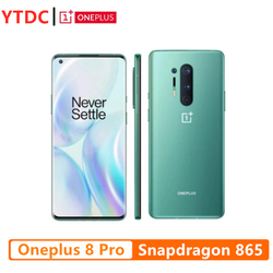 Global Rom Oneplus 8 Pro 5G Smartphone Snapdragon 865 8G 128G 6.78'' 3168x1440 120Hz Fluid Screen Android 10 30W Charger NFC