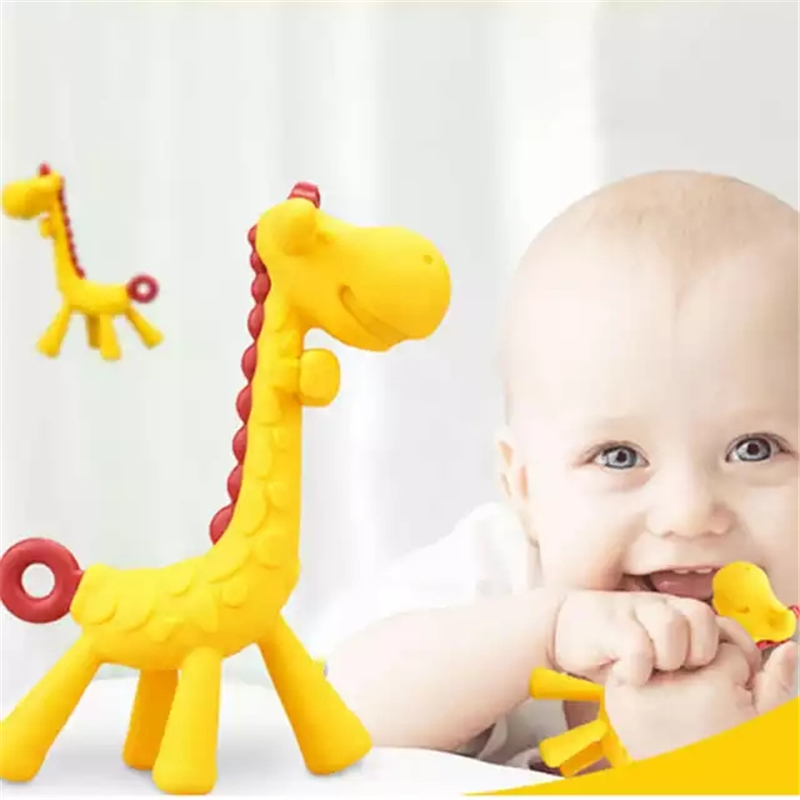 Baby Teether Cartoon Teething Nursing Silicone Baby Teeth That Fawn Molar Rod Giraffe To Bite The Teether Safty