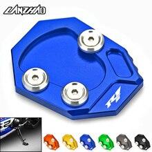 لوحة تكبير الدراجة النارية ، دعم جانبي للدراجة النارية R1 ، ملحق ألومنيوم CNC لـ Yamaha YZF R1 2009 2010 2011 2012 2013 2014