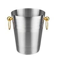 Stainless Steel Wine Ice Bucket Chiller Golden Wine Bottle Cooler Champagne Beer Chiller Ice Barrel Silver Gold Whiskey Rack wit