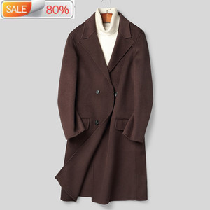 AYUSNUE 2020 New 100% Wool Coat Men Doub