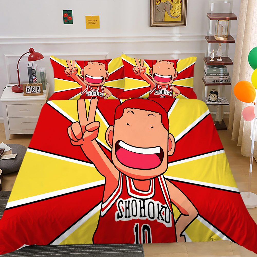 Bedding Set Cartoon Duvet Cover Sets King Queen Size Basketball Fans 3D Printed & Pillowcase Home Textile Beds Gift