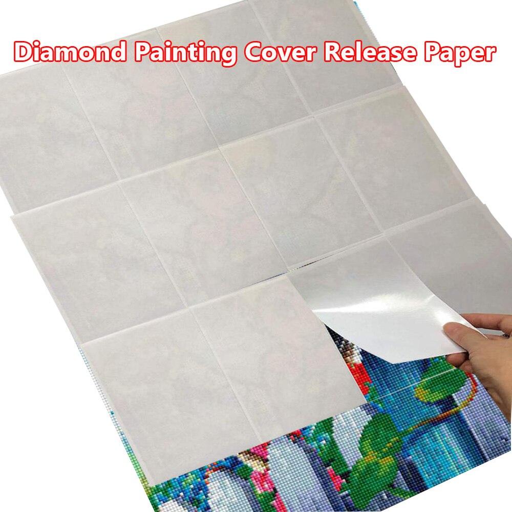 Diy ferramentas de pintura diamante acessórios papel de liberação pintura diamante capa substituição
