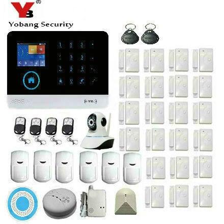 Yobang Security WIFI GSM Alarm System For Home Security BurglarAlarmSystem Wireless Smoke Detector Sensor Support APP Control