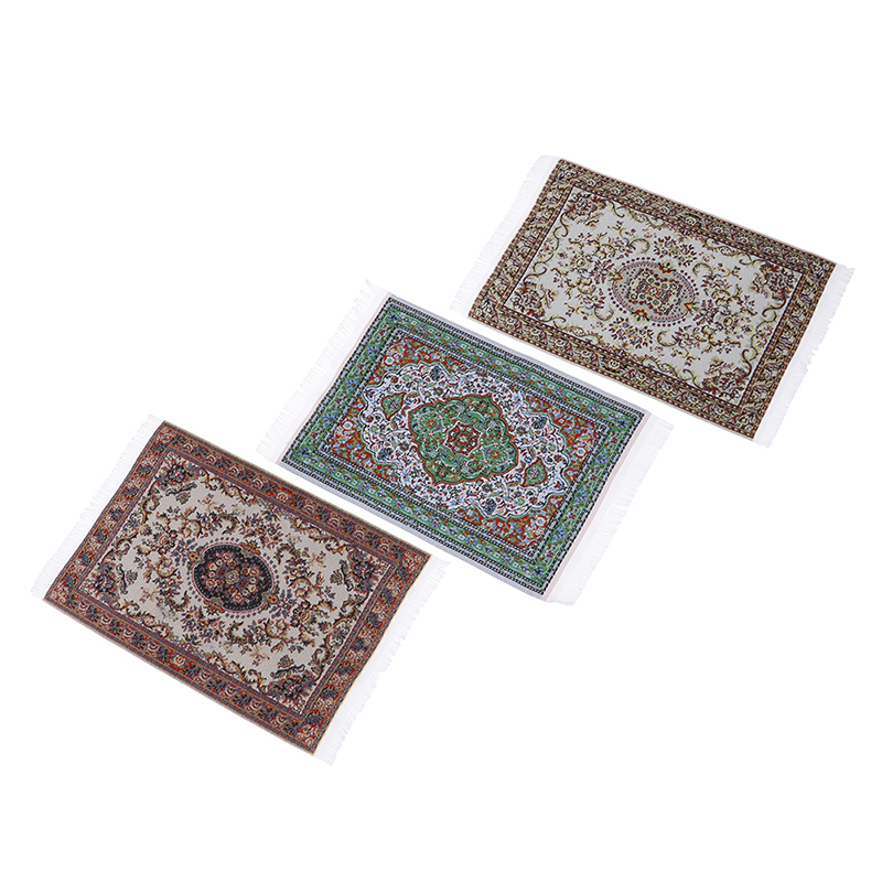 1/12 Scale Dollhouse Miniature Turkish Style Area Rug/Carpet/Mat Floor Coverings For Dolls House Any Rooms Furniture Decoration