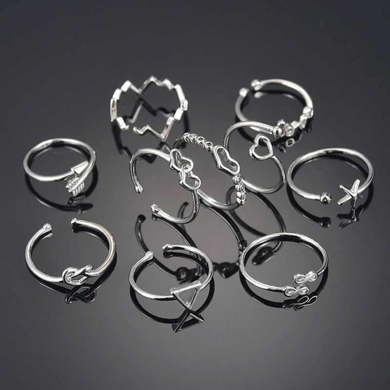 Anéis de aço inoxidável ajustáveis feitos sob encomenda geométrico unisex do vintage para as mulheres cor da tira na moda festa aberto jóias