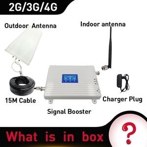 Image 5 - 4g booster 900/1800/2100 DCS WCDMA LTE GSM 2G 3G 4G Tri  band Handy Signal Booster GSM cellular Repeater Verstärker peitsche antenne
