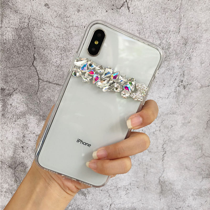 For <font><b>Samsung</b></font> Galaxy Note 10 Note 9 S10 5G S10E S8 <font><b>S9</b></font> Plus <font><b>Case</b></font> Luxury Bling Rhinestone <font><b>Diamond</b></font> Crystal Soft Transparent TPU Cover image