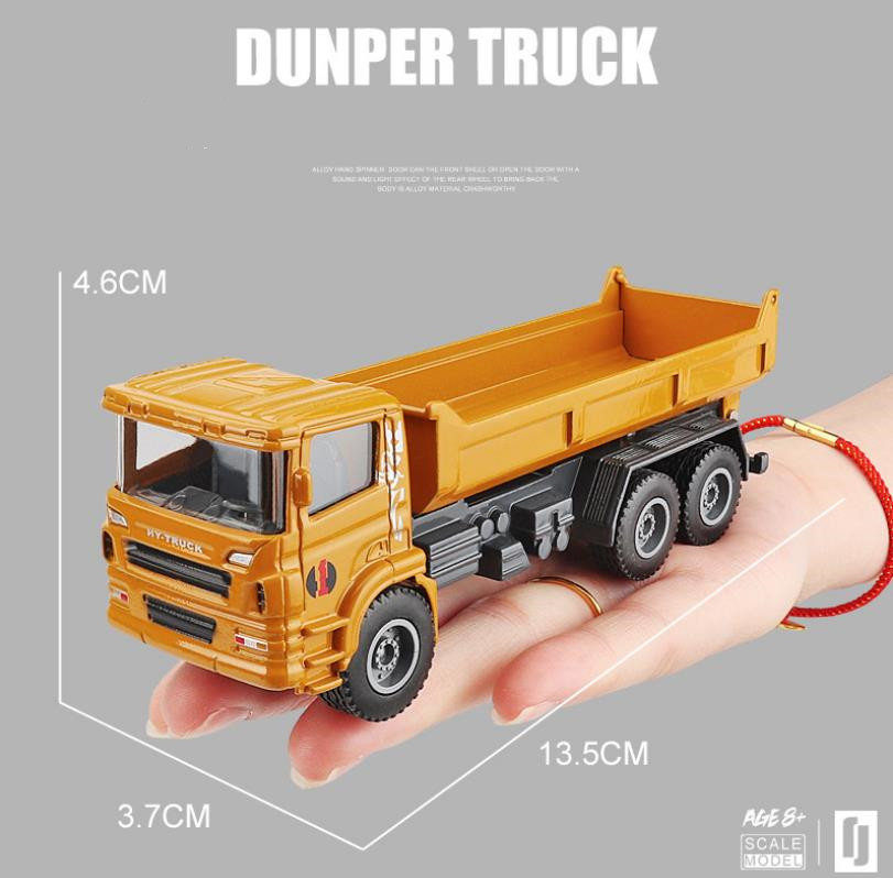 High-quality Simulated Alloy Engineering Truck,1:60 Dump Truck Model, Dump Truck Toy,free Shipping