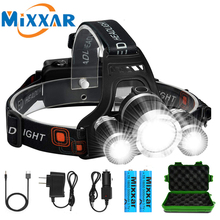 ZK20 Droshipping Headlamp Ultra Bright Waterproof 4 Modes Headlight T6 LED Flashlight 18650 Rechargeable Battery Hunting Fishing 16 xml t6 led 8000lm ultra bright waterproof flashlight torch 4 modes light by 18650 rechargeable battery for hungting fishing