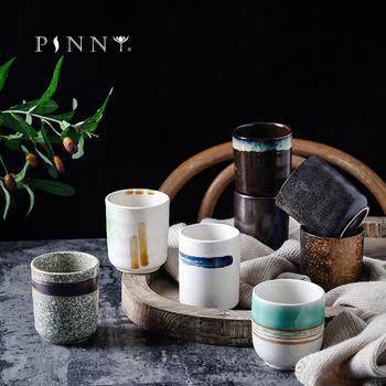 PINNY 200ml styl japoński ceramiczne filiżanki na herbatę filiżanki do kawy Kiln pigmentowane kubki kreatywność biuro filiżanka Retro Drinkware tanie i dobre opinie Filiżanki do herbaty CN (pochodzenie) Ceramiki Applicable To Tea Coffee