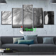 Full Diamond Painting Foggy Forest Trees Scenery Cross Stitch Diamond Embroidery Patterns rhinestones Diamond Mosaic Christmas(China)