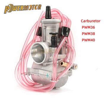Carburador de la motocicleta PWM 36mm 38mm 40mm carbohidratos Universal Carburador para UTV ATV KTM 250CC turno Karts 2T de Scooter