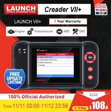 Launch X431 Creader vii + OBD2 сканер ENG ABS подушка безопасности на Автомобильный сканер для считывания кода OBDII диагностический инструмент Автомобильный сканер 7 +