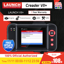Launch X431 Creader vii+ OBD2 Scanner ENG ABS Airbag AT Auto Code reader scanner OBDII Diagnostics Tool Automotive Scanner 7+