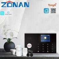 Sistema de alarma de seguridad para el hogar, dispositivo antirrobo con Wifi, Tuya, Gsm, 433MHz, Control de aplicaciones con Sensor de movimiento, 11 idiomas, conjunto de alarma inalámbrica