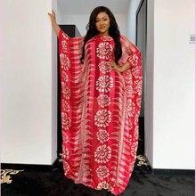 Tilapia nouveau mousseline de soie maxi longue robe de grande taille africaine en vrac rouge riche vestidos avec élastique court intérieur
