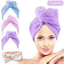 Hair Towel Wrap Turban Microfiber Hair Drying Towels Quick Dry Hair Hat Drying Shower Head Towels Wrapped Bath Cap double layer colorful shower cap wrapped towels microfiber bathroom hats solid superfine quickly dry hair hat bath accessories